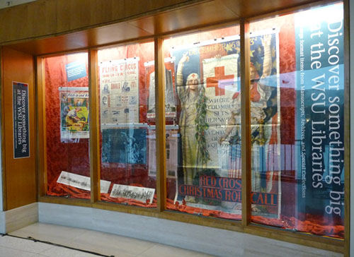 Image of an exhibit that displayed several oversize items held in MASC.