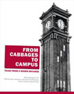 Image of Cabbages to Campus: Tales From A Dozen Decades poster showing a cutout of the clock tower at WSU.