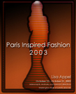 Poster image of Paris Inspired Fashion 2003-Honors Thesis by Lisa Appel.