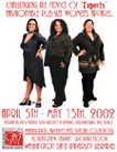 "Poster image of Challenging The Advice Of ""Experts""...Fashionable Plus-Size Apparel, showing three woman standing side by side."