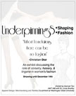 Image of Underpinnings poster.