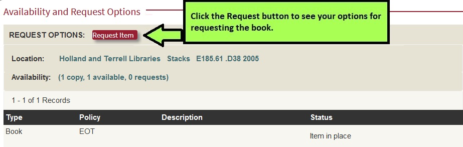 Request options in Search It button screenshot
