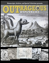 Poster of Outrageous Hypotheses showing a variety of animals and humans.