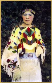 One image of The National Park Service Nez Perce Historic Images Collection showing a native woman dressed up.