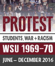 Image of the Protest Exhibit poster showing people protesting.