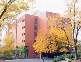 Owen Science Library exterior with fall foliage